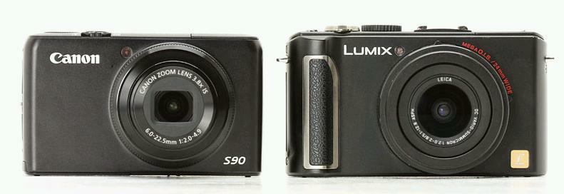 La Canon S90 y la Panasonic LX3, lado a lado