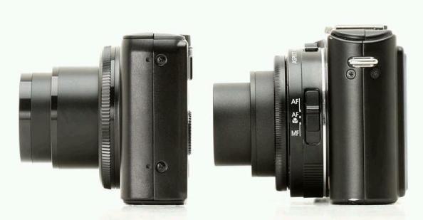 A la izquierda la Canon S90 y la Panasonic LX3